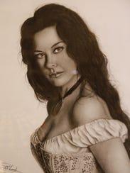 Portrait of actress Catherine Zeta-Jones by Kirtland