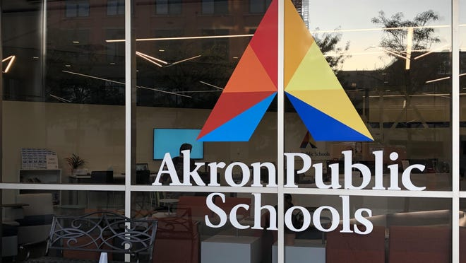 The Akron Public Schools Sylvester Small Administration Building.