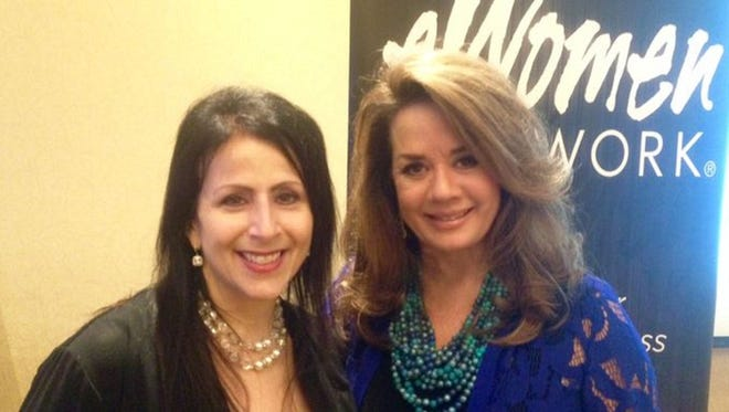 "Sandra Yancey, right, founding CEO of eWomenNetwork, will speak at the seventh annual eWomenNetwork Success Summit of the Central NJ Chapter on April 11 at the Sheraton Edison Hotel Raritan Center. She is pictured with chapter Executive Director Gloria Cirulli, author of the monthly ""Taking Women to the Next Level"" business column."