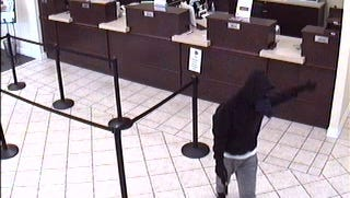 TPD is searching for an Envison Credit Union robbery suspect.