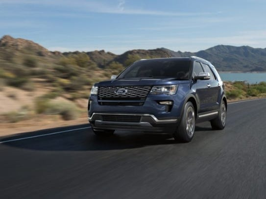 The 2018 Ford Explorer.