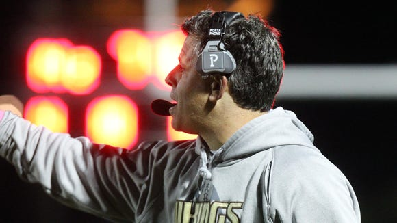 Clarkstown South head coach Mike Scarpelli during a