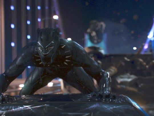 "Chadwick Boseman stars in ""Black Panther."""