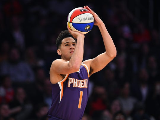 February 17, 2018; Los Angeles, CA, USA; Phoenix Suns