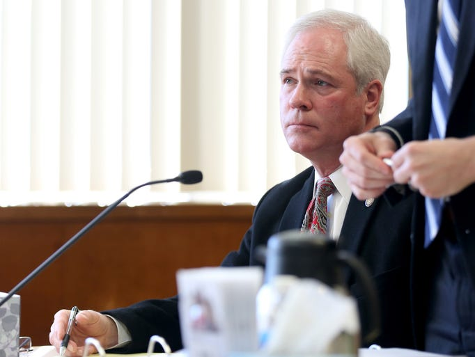 Judge Vance Day appears for a pre-trial hearing at