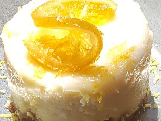 The vegan and gluten-free lemon cheesecake at the Herb