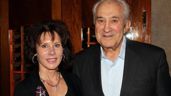 Don Carano, right, and his wife Rhonda during the Mr. and Mrs. Ferrari-Carano dinner at Sterling's Steakhouse in the Silver Legacy in March 2014.