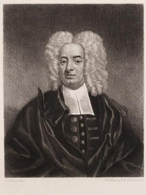 Cotton Mather, Puritan minister and ancestor of Channing Mather.