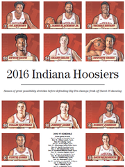 Keepsake page for the 2016 Indiana Hoosiers in Sunday's