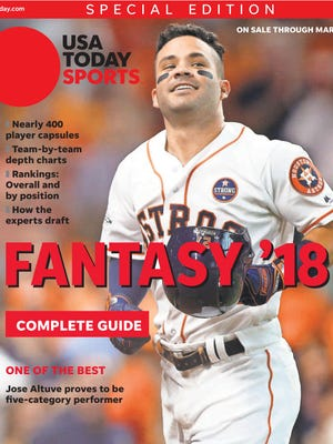 American League MVP Jose Altuve of the World Series champion Houston Astros is one of four regional cover subjects in this year's fantasy baseball guide.