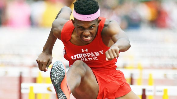 Whippany Park's Christian Martin competes in the group