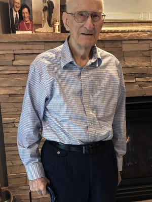Ed McComb, a veteran of World War II, will celebrate his 100th birthday on Saturday. Friends and family are planning a parade through Thornbrook subdivision.