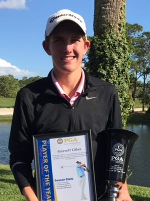 Garrett Giles, 16, of Palm City won the 2017 South Florida Jr. Challenge Player of the Year.