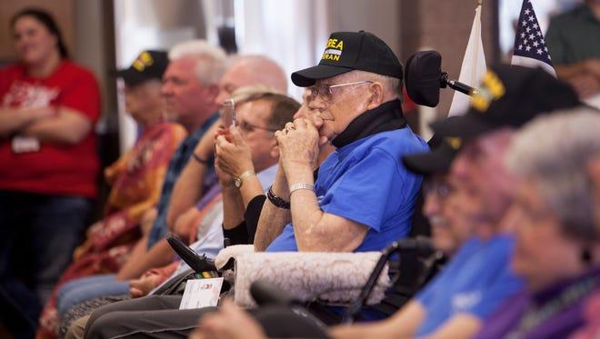 Members of the community gather to honor local veterans at the Southern Utah Veterans Home Saturday, Feb. 4, 2017.