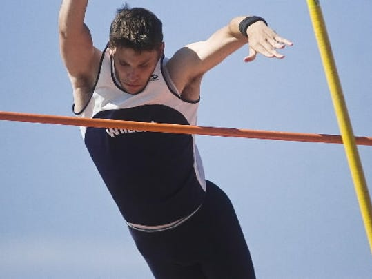 Dallastown's Jared Allison is seen here clearing 13 feet during last season's District 3 track and field championships.
