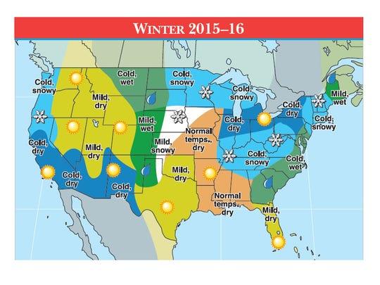 The Old Farmers Almanac's winter weather prediction