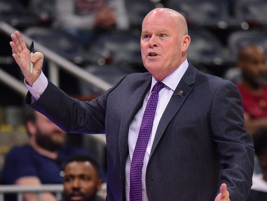 Steve Clifford during a game in March.