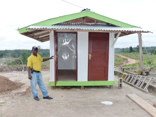 This is one of the isolation units built to house people with Ebola.