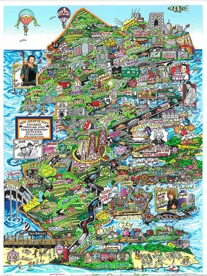 Jerseylicious, Our Garden State by Charles Fazzino.