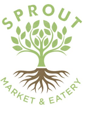 Sprout Market & Eatery's logo.