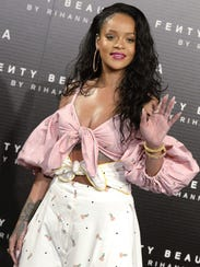 Rihanna attends the Fenty Beauty by Rihanna presentation