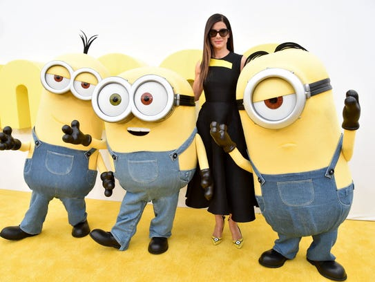 Again, the real (ish) deal. Minions pose with Sandra