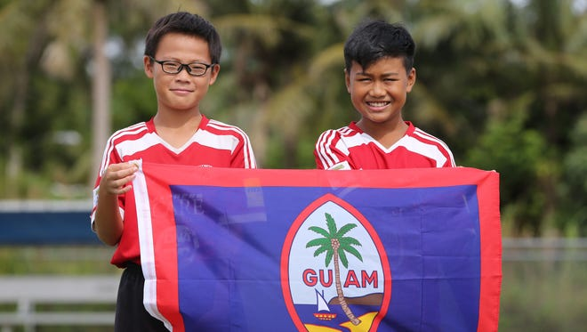 Raito Atsuta, left, and Riku Meyar, right, are heading to Moscow to take part in the sixth Gazprom Football for Friendship Program, held concurrently with opening events of the 2018 FIFA World Cup Russia.