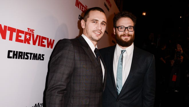 "Sony Pictures Entertainment announced Tuesday a limited theatrical release of ""The Interview,"" starring James Franco, left, and Seth Rogen, beginning Thursday, putting back into the theaters the comedy that prompted an international incident with North Korea and outrage over its cancelled release."