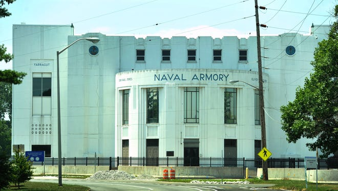 The Naval Armory building at 30th Street and White River Parkway Drive, could become the city's newest high school.