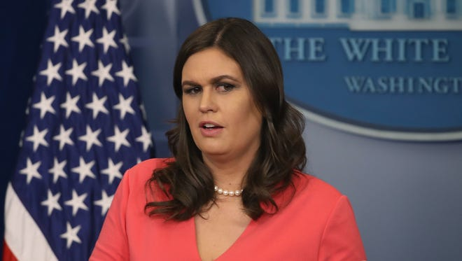 White House Press Secretary Sarah Huckabee Sanders speaks to the media during her daily press briefing at the White House on November 20, 2017 in Washington, D.C.