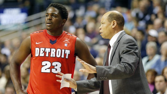 Detroit Mercy guard Carlton Brundidge, with coach Ray McCallum, plays with heightened confidence and has been rewarded with a starting role. Brundidge will defend Oakland's star guard Kay Felder.