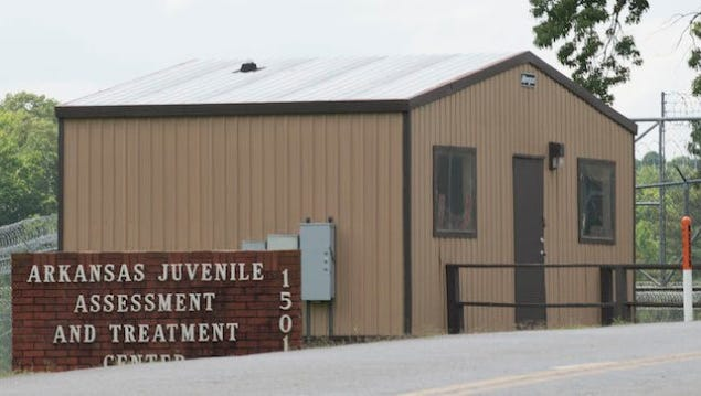 OUTSIDE AJATC: The juvenile lockup has had problems in the past.
