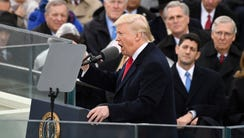 President Trump delivers his inaugural address on Jan.