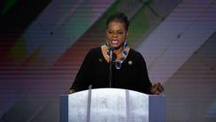 Rep. Gwen Moore, D-Wis., speaks during the 2016 Democratic