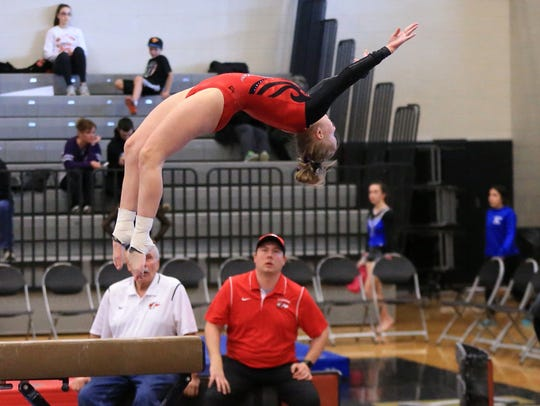 It's another perfect dismount for Canton senior Jana