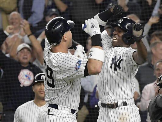 APTOPIX Athletics Yankees Baseball