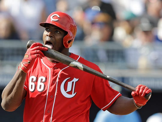 Yasiel Puig is among the players the Reds have added to bolster their team this season.