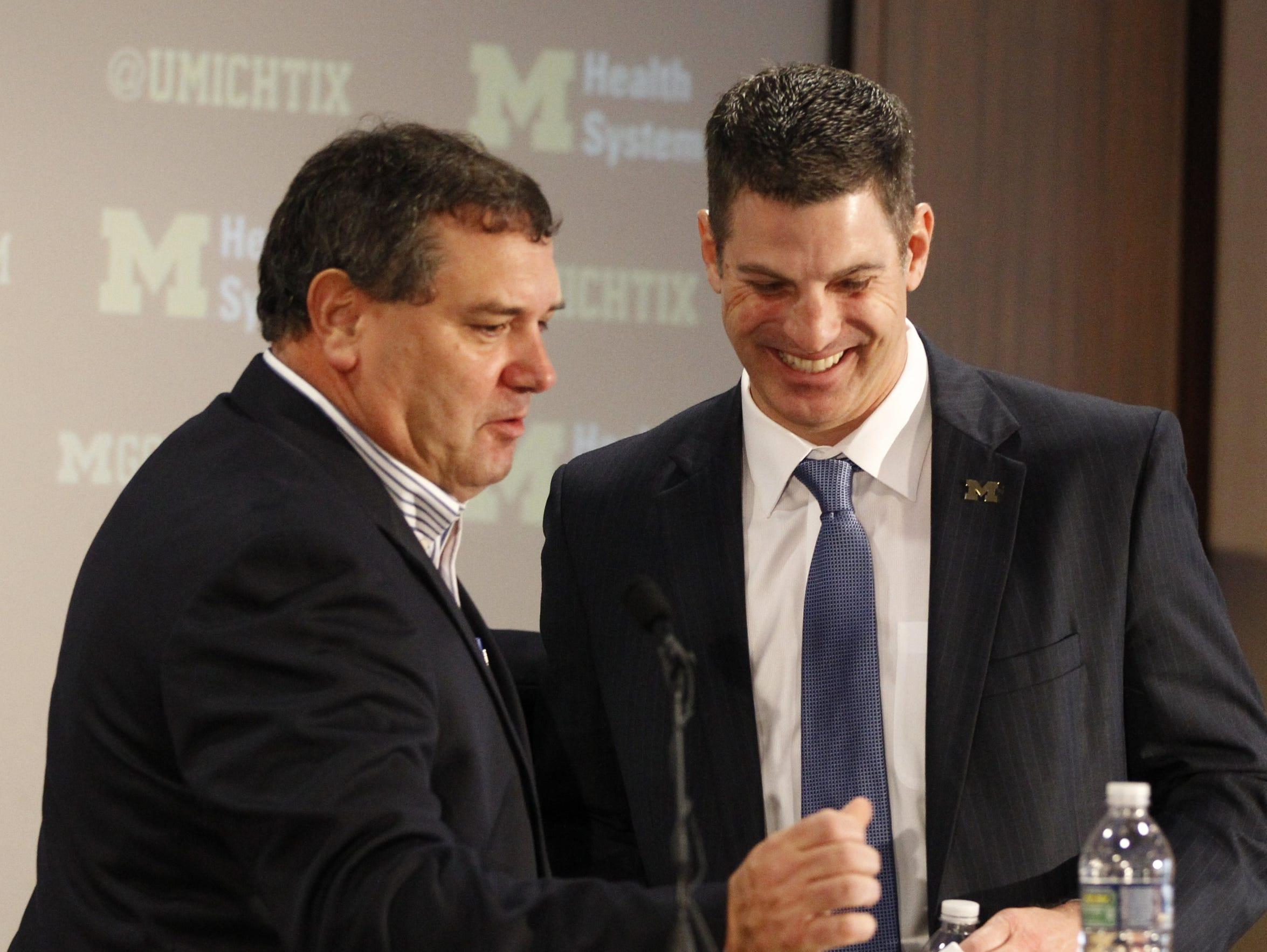 Brady Hoke introduces new offensive coordinator Doug