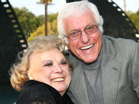 Actress Rose Marie and actor Dick Van Dyke attend the