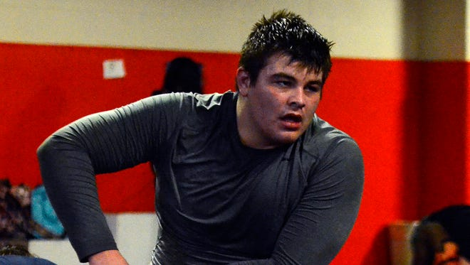 Central York heavyweight Michael Wolfgram. DISPATCH FILE PHOTO