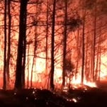 Large wildfires contained in Mississippi