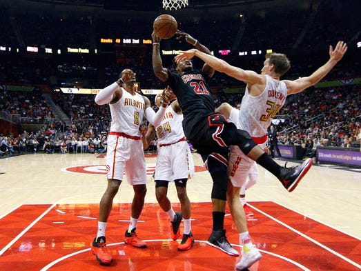 Jan 20: Chicago Bulls guard Jimmy Butler is fouled