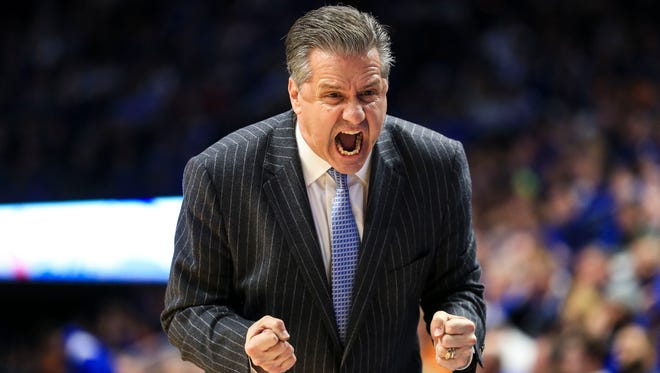 Kentucky's John Calipari shouted 'Oh My God!'  in the second half as the Wildcats fell to Tennessee for the second time this year, 61-59, at Rupp Arena Feb. 6.