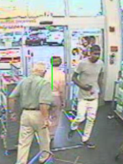 Here, the suspect is seen entering the store.