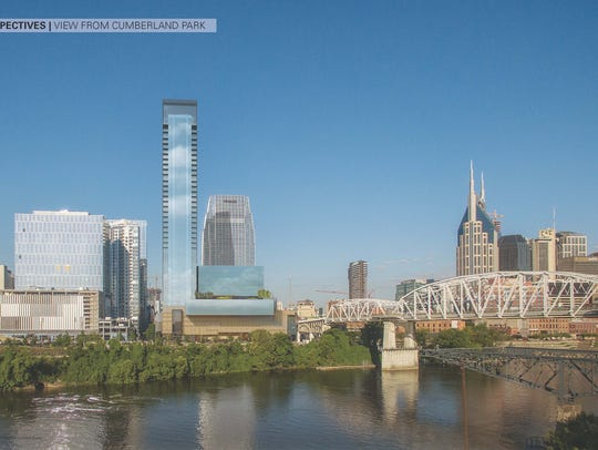 A rendering shows a planned 40-story high-rise from