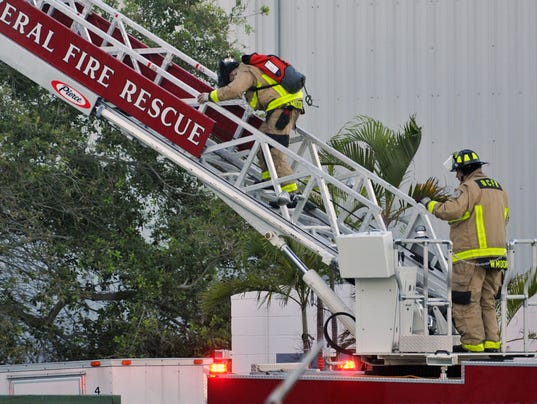 SpaceX building fire