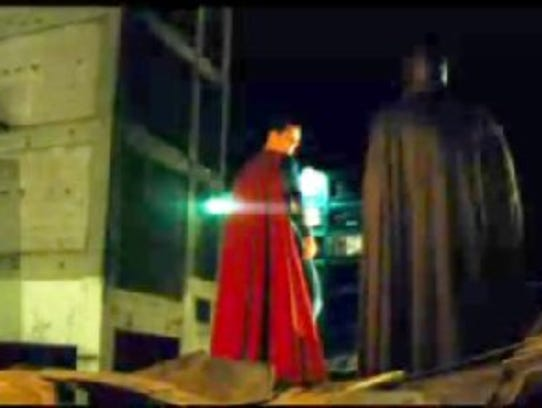 Superman prepares to take flight in a screen grab from