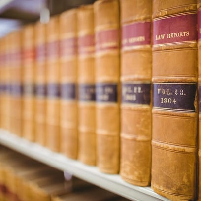 Close up of law reports