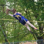 Megan hoffman competes in the pole vault at the WIAA Division 2 Track and Field Freedom Regional on Monday. She finished second and advanced to sectionals.