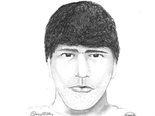 A sketch of a man who police believe may have been involved in a shooting that took place in northeast Salem Friday morning.